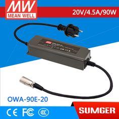 1MEAN WELL original OWA-90E-20 20V 4.5A meanwell OWA-90E 20V 90W Single Output Moistureproof Adaptor Euro Type