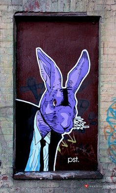 Street Art By Pst More Pins Like This At FOSTERGINGER @ Pinterest