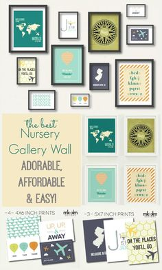 DIY Easy Nursery Gallery Wall - so simple, fool-proof and totally affordable. And, of course, as nearly as cute as your nursery's little resident.