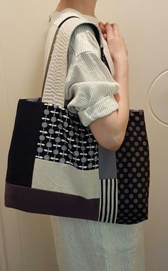 Patchwork tote bag Handmade Handbags & Accessories - http://amzn.to/2ij5DXx
