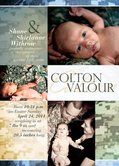 military birth announcement