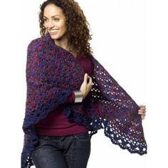 Harlequin Shawl - Free Crochet Pattern / Yarnspiration