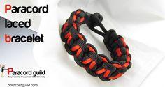 Laced paracord bracelet tutorial.