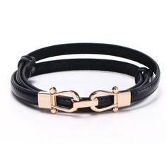 e82782a1a51 High quality Black Cowskin Belt for Lady women s belt luxury thin belt  brand belts Geometric Agio Pin Buckle leather belt