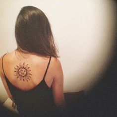 Sun and the moon tattoo