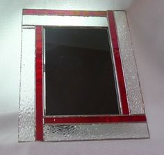 frame Stained Glass Frames, Stained Glass Projects, Stained Glass Patterns, Bamboo Picture Frames, Glass Picture Frames, Candle Box, Candle Holders, Glass Mirrors, Glass Boxes