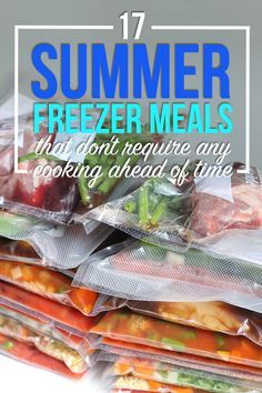 Want to spend your summer outside instead of in the kitchen or drive-thru line? Stock your freezer with these easy freezer meals!   www.thirtyhandmadedays.com