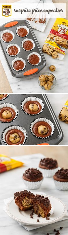 Surprise Prize Cupcake // Great idea you could make from scratch