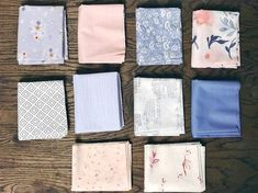 Monday is all about fabric – #46 – Random Assortment of Periwinkle