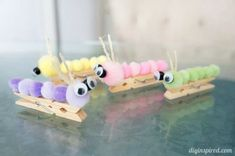 25 Summer Crafts for Kids - SoCal Field Trips Bug Crafts, Camping Crafts, Craft Stick Crafts, Crafts To Do, Easy Crafts, Kids Crafts, Clothespin Crafts, Easy Diy, Clothespin Magnets