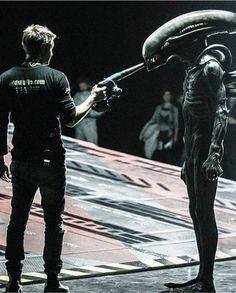 Alien: Covenant BTS Alien Film, Alien Vs, Giger Alien, Hr Giger, David Fincher, James Cameron, Alien Sigourney Weaver, Alien Covenant Xenomorph, Predator 1
