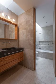 If you wish to add a bathroom in your house but possess a limited budget, mind for that basement. Small Basement Bathroom, Add A Bathroom, Bathroom Plumbing, Modern Bathroom, Contemporary Country Home, Travertine Bathroom, Washroom Design, Shower Niche, House Front Design