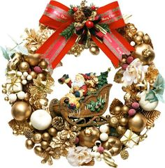 corona de navidad All Things Christmas, Christmas Time, Holiday Wreaths, Holiday Decor, Xmas Decorations, Design, Home Decor, Polyvore, Winter