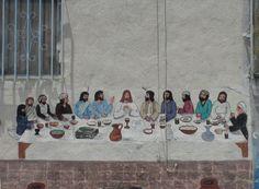 The Last Supper, Los Angeles Street Art Graffiti, Biblical Art, Last Supper, Holy Week, True Art, Bible Art, Chalk Art, Christian Art, Cool Pictures