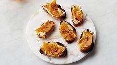 Persimmon and Brie Crostini