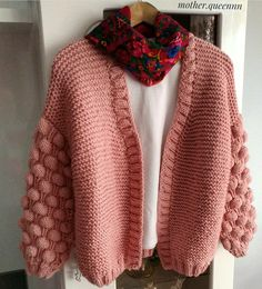 Bubbleknitted cardigan