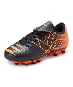 Black & Orange Soccer Shoe