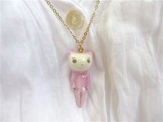 Petit Cat Pendant-lilac by alleluja on Etsy