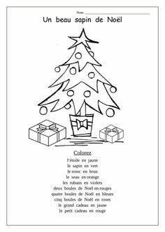 French christmas coloring pages Free Printable Christmas Worksheets, Christmas Worksheets Kindergarten, Letter B Worksheets, French Worksheets, Preschool Christmas, Worksheets For Kids, Vocabulary Worksheets, Kindergarten Writing, French Christmas