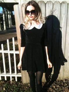 Wednesday Addams Mod Mini Dress MADE TO ORDER by viciousthreads. $90.00, via Etsy.