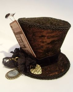 This hat would be perfect for the mad hatter. It's definitely quirky and different.
