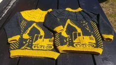 Genser Strikket På Rundpinne I Drops Mer - Diy Crafts Knitting Machine Patterns, Knitting For Kids, Crochet Pattern, Stitch Patterns, Projects To Try, Baby Boy, Diy Crafts, Boys, Clothes