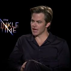 Chris Pine promoting A Wrinkle in Time