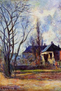 ۩۩ Painting the Town ۩۩ city, town, village & house art - Winter's end, 1885, Paul Gauguin
