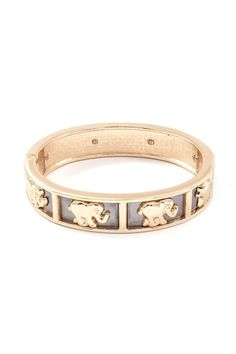 Golden #elephant procession #bracelet