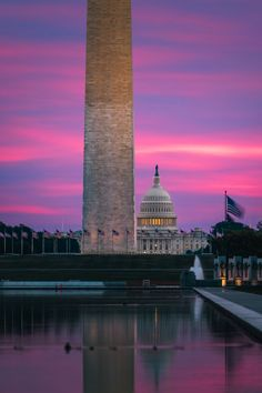 Beautiful sunrise over the reflecting pool in Washington DC Jefferson Memorial, Lincoln Memorial, Peace Art, Us Capitol, Rock Creek, National Mall, Beautiful Sunrise, Great Photos, Cn Tower