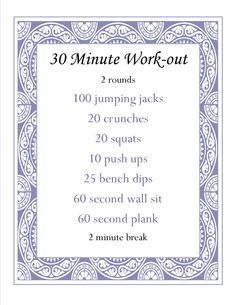 half an hour workout at home - Google Search