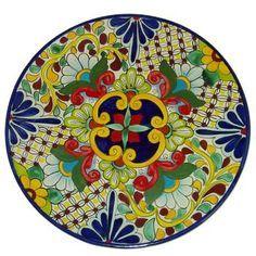 Mexicans Pottery, Ceramics Plates Talavera, Ceramica Mexicana, Mexican Pottery, Decor Round, Italian Ceramics, Ceramica Diseño, Italian Pottery, ...