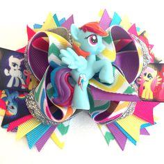 My Little Pony Rainbow Dash over the top bow