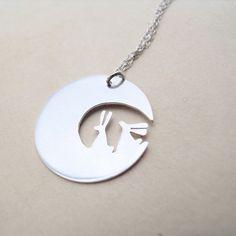 moon bunnies pendant by sarah birt jewellery on etsy