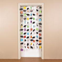 Mortar Board Door Curtain - OrientalTrading.com  $8.25 3ft. x 7ft