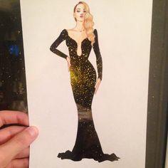 Ilustradora cria lindos vestidos com qualquer coisa para seus desenhos   Virgula