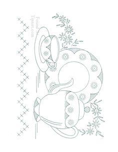 SONHO DOCE ART: Riscos para cozinha ,Bules ,Xícaras etc.