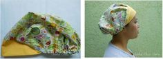 Eu Amo Artesanato: Touca Cirúrgica ou de Cozinha Scrub Hats, Caps Hats, Beanie, Sewing, Pattern, Crafts, Turbans, Bandanas, Fashion