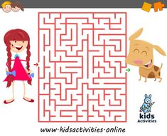 Funny mazes for kids printable Maze Games For Kids, Puzzles For Kids, Activities For Kids, Mazes For Kids Printable, Maze Puzzles, Free Cartoons, Activity Games, Girl Cartoon, Children