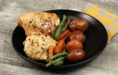 nice Put chiken in a crock pot, but what goes on top turns it into an irresistible meal