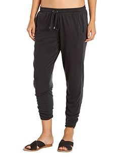 Splendid Womens Sand Wash Pant with Ankle Side Ruching Black XSmall ** Want additional info? Click on the image.