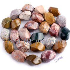 "10x14mm Twist Gorgeous Ocean Jasper Jewelry Gemstone Loose Beads Strand 15"" | eBay"