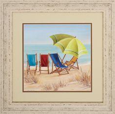 Four Summer 2 Piece Framed Graphic Art Set