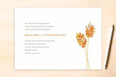 WHEATFIELD Wedding Invitations by Oscar & Emma at minted.com