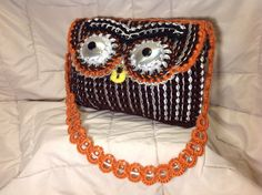 Owl Design Pop Tab Purse by BonitoStyle on Etsy