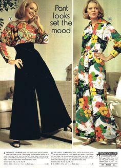 Groovy elephant bell bottom pants - Wards '74