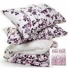 NEW Ikea Ransby King Duvet Cover Quilt & 2 Shams Plum Lilac Purple Floral