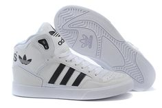 more photos 46b7f c6038 Men s Women s Adidas Originals Extaball High Top Leather Basketball Shoes  White Black M20864 Adidasskor