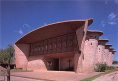 Eliadio Dieste's Church of Christ the Worker, Atlantida, Uruguay, 1958-60. Dieste utilized local labor and building practices of the time with traditional building materials and construction.