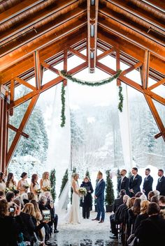 gorgeous winter wedding in whistler
